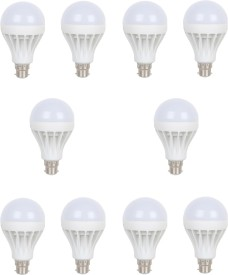15W White LED Bulb (Pack of 10)