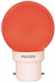 Philips 0.5W LED Bulb (Red, Pack of 5)