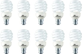 23 W Spiral CFL Bulb (White, Pack of 10)
