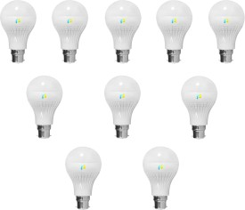 Finike 7W B22 LED Bulb (White, Pack of 10)