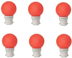 0.5W LED Bulb (Red, Pack of 6)