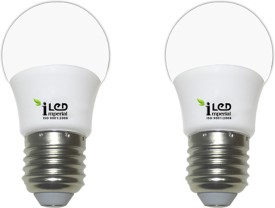 Imperial 3W-WW-E27-3577 Screw LED Bulb (Yellow, Pack Of 2)