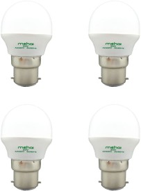 Super Bright 3W LED Bulbs (White, Pack of 4)