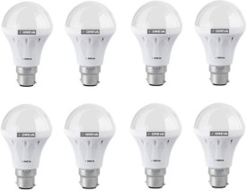Oreva 4W LED Bulb (White, Pack of 8)