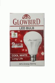 9W B22 LED Bulb (White, Set of 10)