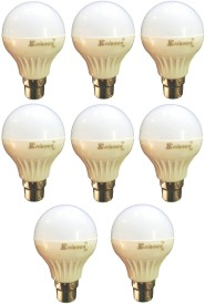 5W B22 LED Bulb (White) [Pack of 8]