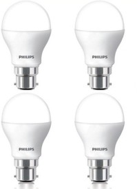Philips 7 W LED Bulb B22 White (pack of 4)