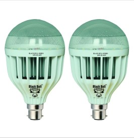 Black Bull Series 18W LED Bulb (White, Pack of 2)
