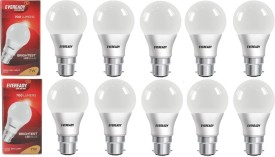7W LED Bulb (White, Pack of 10)