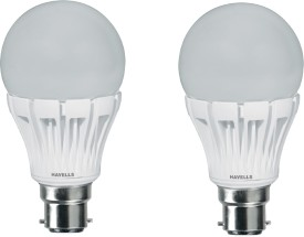 Adore 7W B22 Warm White LED Bulb (Pack Of 2)