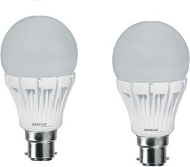Havells 10 W LED A60 Lamp Bulb B22 White (pack of 2)