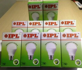 IPL 7W B22 LED Bulb (White, Set of 10)
