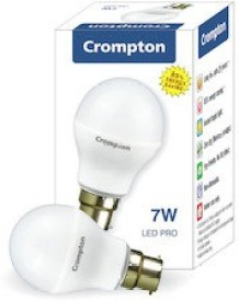 7 W LED Bulb Cool Daylight B22 White (pack of 4)