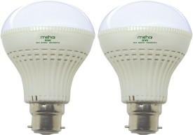 Super Bright 9W LED Bulb (White, Pack of 2)