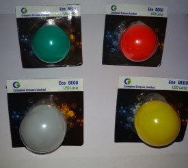 Greaves 0.5 W LED Bulb B22 multi color (pack of 4)
