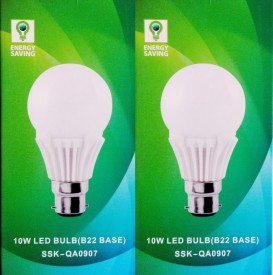 Syska 10 W B22 LED Bulb (White, Glass, Pack of 2)