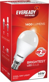 Eveready 14 W LED 6500K Cool Day Light Bulb B22 White