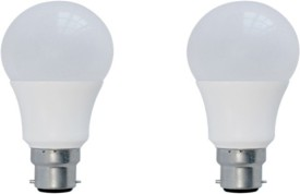 3 W B22 LED Bulb (Warm White, Plastic, Pack of 2)