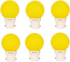 Philips 0.5 W LED Deco B22 IND Bulb Yellow (pack of 6)