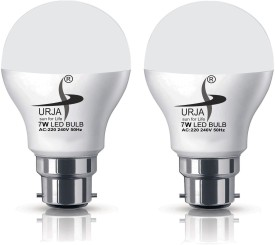 Urja 7W B22 LED Bulb (White, Pack of 2)