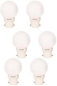 Philips 0.5 Watt B22 White LED Bulb (Pack of 6)