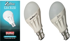 Khaitan 8 W LED Zolta Bulb B22 White (Pack of 2)