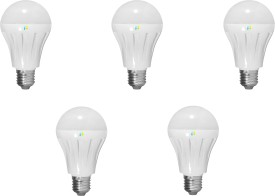 Finike 9W E27 LED Bulb (White, Pack of 5)