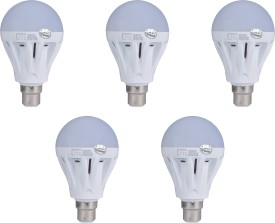 Lite India 5 W LED Bulb (White, Pack of 5)