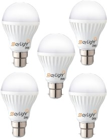 Daylight Technology 3 W LED Bulb (Cool White, Pack of 5)