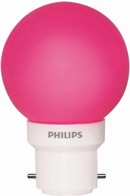 Philips 0.5W LED Bulb (Pink, Pack of 5)