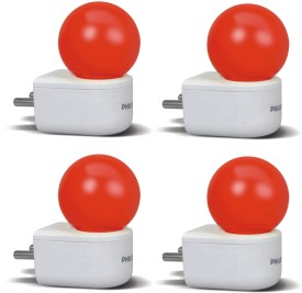0.5W Joyvision Plug N Play LED Bulb (Red, Pack of 4)