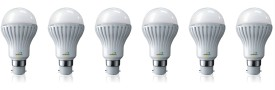 Nvis 5W B22 LED Bulb (White, Set Of 6)