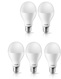 Philips Steller Bright 17W E27 Standard LED Bulb (White, Pack of 5)