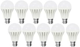 Gold-3W-Plastic-Body-Warm-White-LED-Bulb-(Pack-Of-10)
