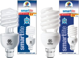 Wipro Smartlite 28W Twister CFL Bulbs (Cool Day Light, Pack of 2)