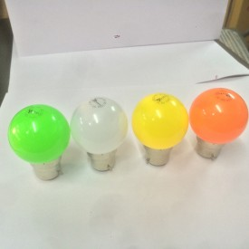 0.5 W LED Bulb B22 multicolor (pack of 4)