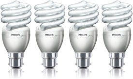 Philips Tornado B22 15W CFL Bulb (Cool Day Light, Pack of 4)