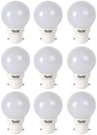 Ajanta Delux 0.5W LED Bulb (White, Pack of 9)