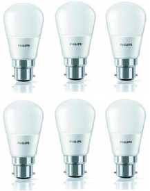 4W 350L LED Bulb (White, Pack of 6)