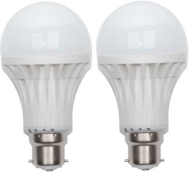 11W Plastic Body White LED Bulb (Pack Of 2)