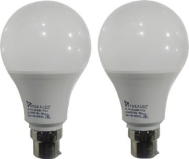9 W B22 PAG LED Bulb (White, Plastic, Pack of 2)