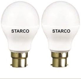 STARCO 7W B22D LED Bulb (Yellow, Pack of 2)