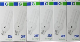 Greaves 20 W CFL Bulb (Cool Day Light, Pack of 6)