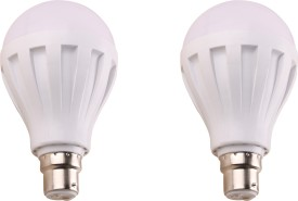 9W 460 Lumens White Eco LED Bulbs (Pack Of 2)