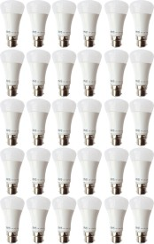 5W B22 LED Bulb (White, Set of 30)