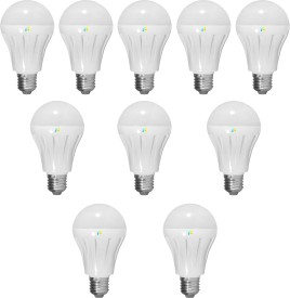 Finike 4W E27 LED Bulb (Yellow, Pack of 10)