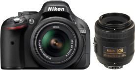 Nikon D5200 DSLR (with AF-S 18 - 55 mm VR Kit + AF-S DX NIKKOR 35 mm f/1.8G)
