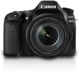 Canon EOS 80D DSLR (with 18-135mm IS USM Lens)