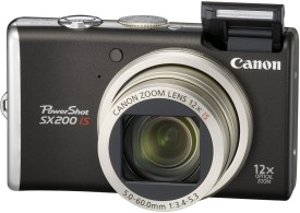 Canon Powershot SX200 IS Point & Shoot Camera