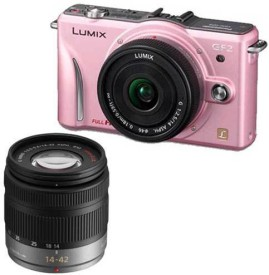 Panasonic Powershot Lumix DMC-GF2W Camera (With 14-42mm lens)